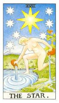The Star Tarot Card - Universal Waite Tarot Deck