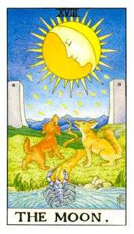 The Moon Tarot Card - Universal Waite Tarot Deck