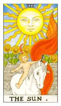 The Sun Tarot Card - Universal Waite Tarot Deck