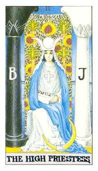 The High Priestess Tarot Card - Universal Waite Tarot Deck