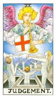 The Judgment Tarot Card - Universal Waite Tarot Deck