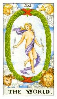 The World Tarot Card - Universal Waite Tarot Deck