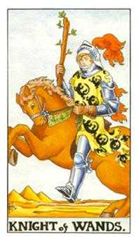 Knight of Rods Tarot Card - Universal Waite Tarot Deck