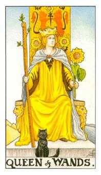 Queen of Rods Tarot Card - Universal Waite Tarot Deck