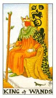 King of Staves Tarot Card - Universal Waite Tarot Deck