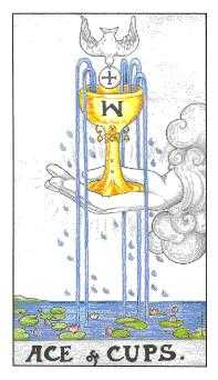 Ace of Cups Tarot Card - Universal Waite Tarot Deck
