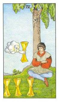Four of Cups Tarot Card - Universal Waite Tarot Deck