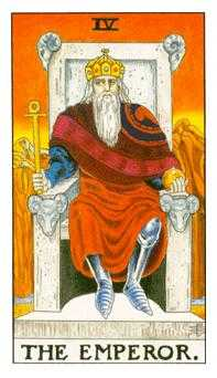 The Emperor Tarot Card - Universal Waite Tarot Deck