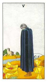 Five of Cauldrons Tarot Card - Universal Waite Tarot Deck