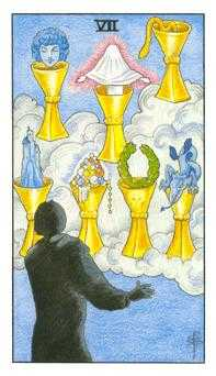 Seven of Cauldrons Tarot Card - Universal Waite Tarot Deck