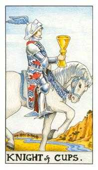 Cavalier of Cups Tarot Card - Universal Waite Tarot Deck