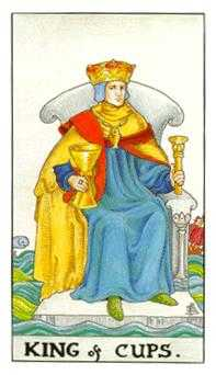 King of Cauldrons Tarot Card - Universal Waite Tarot Deck