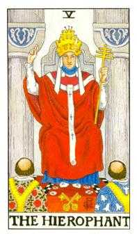 The High Priest Tarot Card - Universal Waite Tarot Deck