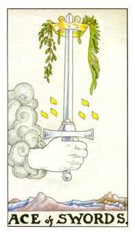 Ace of Swords Tarot Card - Universal Waite Tarot Deck