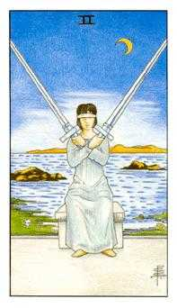Two of Arrows Tarot Card - Universal Waite Tarot Deck