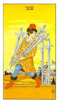 Seven of Swords Tarot Card - Universal Waite Tarot Deck