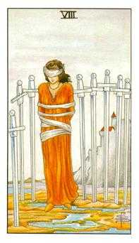 Eight of Swords Tarot Card - Universal Waite Tarot Deck