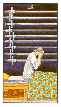 Nine of Swords Tarot Card - Universal Waite Tarot Deck