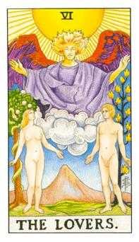 The Lovers Tarot Card - Universal Waite Tarot Deck