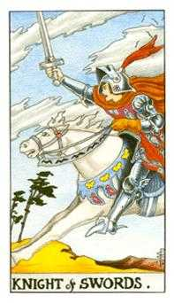 Knight of Spades Tarot Card - Universal Waite Tarot Deck