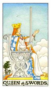 Queen of Swords Tarot Card - Universal Waite Tarot Deck