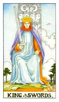 King of Swords Tarot Card - Universal Waite Tarot Deck
