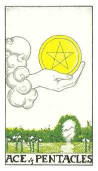 Ace of Coins Tarot Card - Universal Waite Tarot Deck