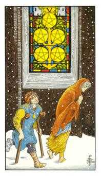 Five of Pentacles Tarot Card - Universal Waite Tarot Deck