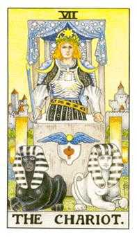 The Chariot Tarot Card - Universal Waite Tarot Deck