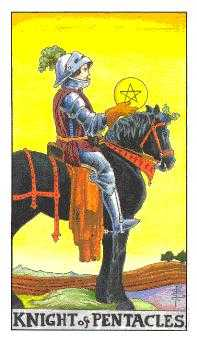 Knight of Coins Tarot Card - Universal Waite Tarot Deck