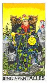 King of Rings Tarot Card - Universal Waite Tarot Deck