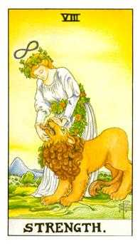Strength Tarot Card - Universal Waite Tarot Deck