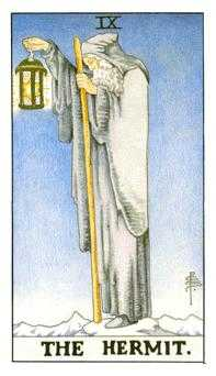 The Hermit Tarot Card - Universal Waite Tarot Deck