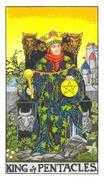 King of Coins Tarot card in Universal Waite Tarot deck