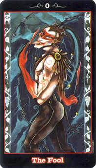 The Fool Tarot Card - Vampire Tarot Deck