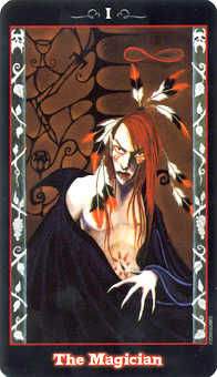 The Magician Tarot Card - Vampire Tarot Deck