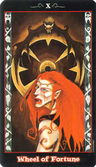 The Wheel of Fortune Tarot Card - Vampire Tarot Deck
