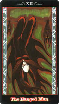 The Hanged Man Tarot Card - Vampire Tarot Deck