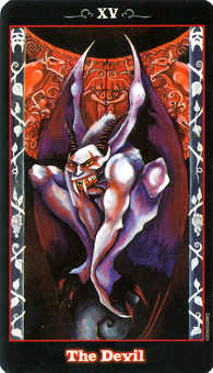 The Devil Tarot Card - Vampire Tarot Deck