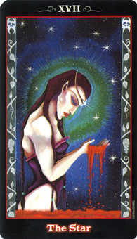 The Star Tarot Card - Vampire Tarot Deck
