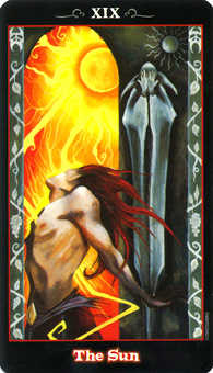 The Sun Tarot Card - Vampire Tarot Deck