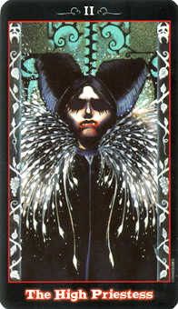 The High Priestess Tarot Card - Vampire Tarot Deck