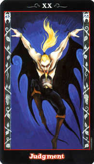 The Judgment Tarot Card - Vampire Tarot Deck