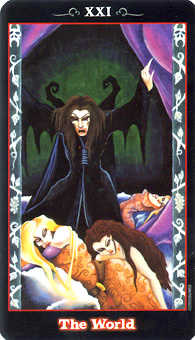 The World Tarot Card - Vampire Tarot Deck