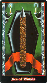 Ace of Sceptres Tarot Card - Vampire Tarot Deck
