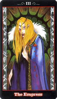 The Empress Tarot Card - Vampire Tarot Deck