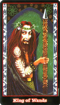 King of Batons Tarot Card - Vampire Tarot Deck