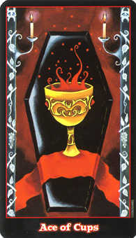 Ace of Bowls Tarot Card - Vampire Tarot Deck