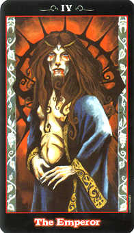 The Emperor Tarot Card - Vampire Tarot Deck