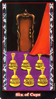 Six of Cauldrons Tarot Card - Vampire Tarot Deck